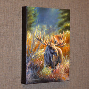 "Original Moose Painting - ""A King's Domain"" 11x14 - art print - original art - Wildlife and Art by Chuck Black"