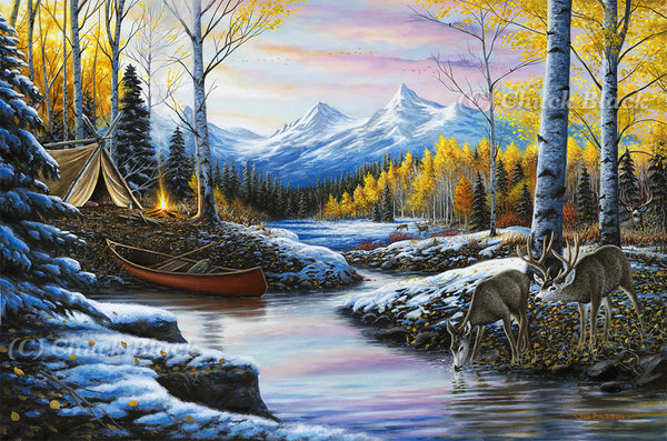 "Western Landscape Canvas Art Print - ""High-country Love"""