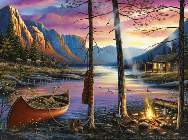 "Western Landscape Canvas Art Print - ""Home Sweet Home"""