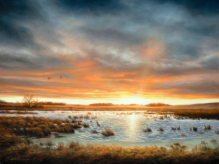 """Restored Beauty"" - Sunset Landscape Art Print"