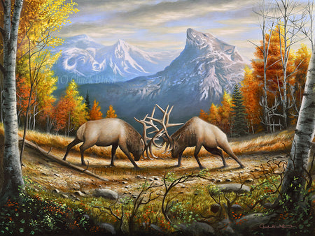 "North American Wildlife Painting - ""The Wild Frontier"" 16x24"