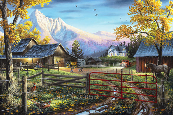"Ranch Life Landscape Painting - ""The Western Lifestyle"" 16x24"
