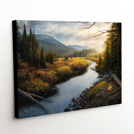"""When Time Slows"" - Mountainous Landscape Canvas Art Print"