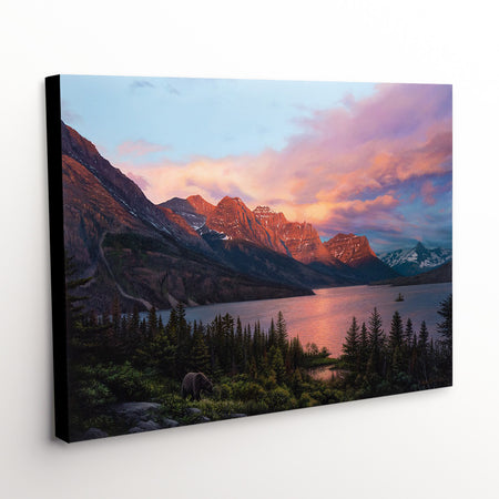 """A Lasting Impact"" - Colorful Landscape Canvas Art Print"