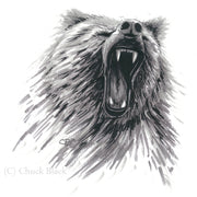 "Grizzly Bear Limited Edition Print - ""Grizzly Roar"" - art print - original art - Wildlife and Art by Chuck Black"