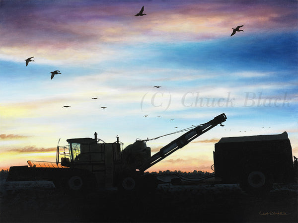 "Farm Landscape Limited Edition Print - ""Fall Harvest"" - art print - original art - Wildlife and Art by Chuck Black"