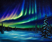 "Northern Lights Landscape Limited Edition Print - ""Chilling Beauty"""