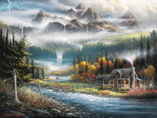 Original Painting - Wildlife and landscape art by Chuck Black