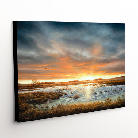 """Restored Beauty"" - Sunset Landscape Canvas Art Print"