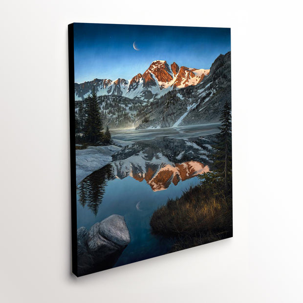 """Royal Beauty"" - Mountain Lake Landscape Canvas Art Print"