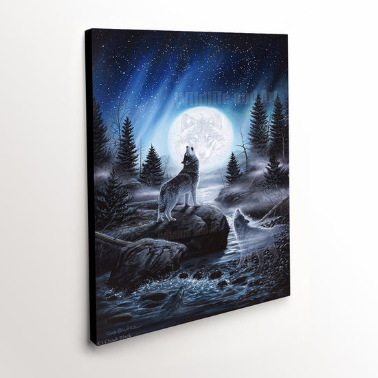 "Wolf Fantasy Canvas Art Print - ""Spirits of the Wild"""