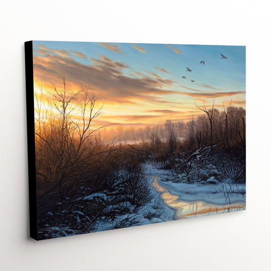 "Winter Landscape Canvas Art Print - ""Subtle Beats"""