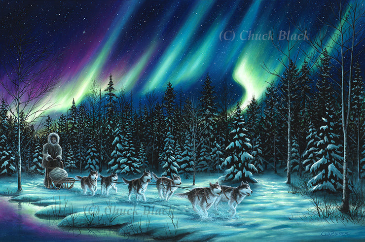 "Sled Dog Team Limited Edition Print - ""The Perfect Ride"""