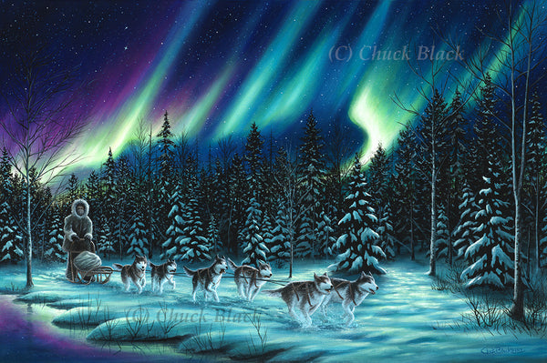 "Sled Dog Team Canvas Art Print - ""The Perfect Ride"""