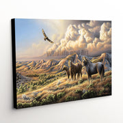 "Wildlife Landscape Canvas Art Print - ""Under Wild Skies"""