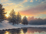 """One Quiet Morning"" - Winter Landscape Art Print"