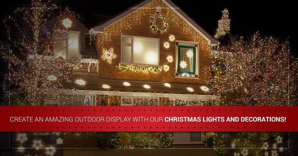 Create an Amazing Outdoor Display With Our Christmas Lights and Decorations!