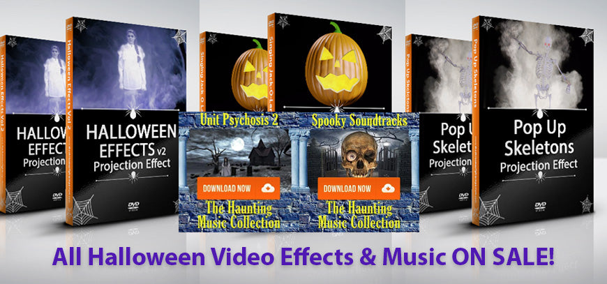 Hallowen Video Effects and Scary Musical Soundtracks on Sale Now