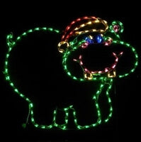 Christmas Hippo Outdoor LED Christmas Lights