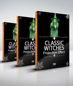 Classic witch halloween project special effect for window and backdrop projection - digital decorations