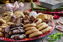 Image of cookies and desserts on a plate.