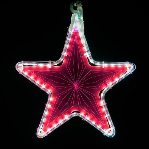 "10"" Electric Hot Pink Star Light - Etched Geometric Design"