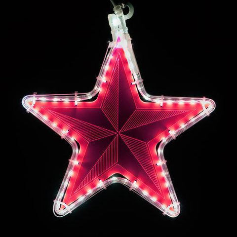 "10"" Electric Hot Pink Star Light - Etched Pinwheel Design"