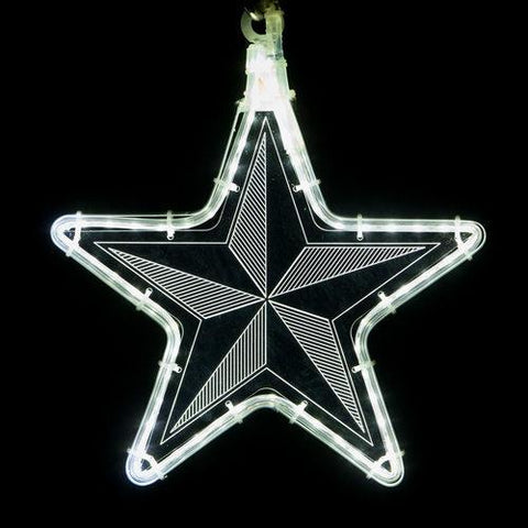 "10"" White Star Light - Etched Pinwheel Design"