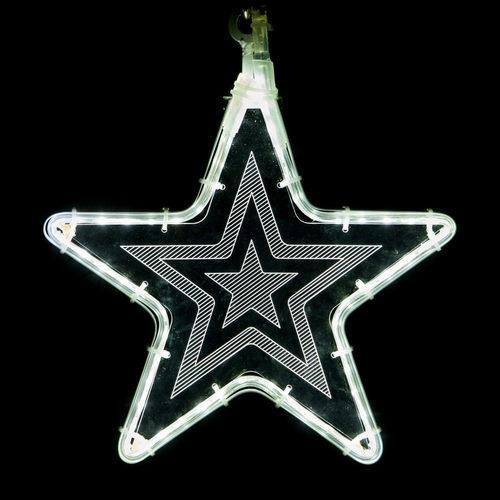 "10"" White Star Light - Etched Star Design"
