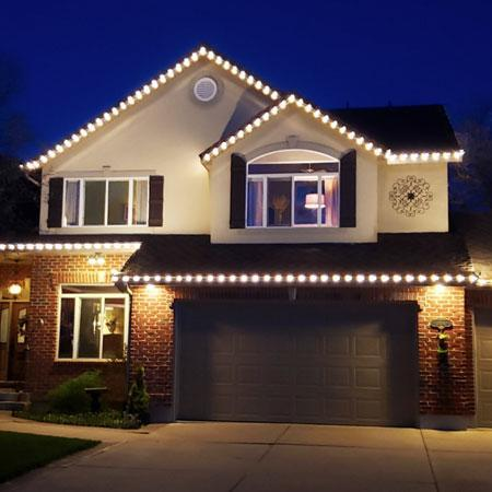 Led Christmas Lights White.100 Kit Everlights Classic Permanent Warm White Led Christmas Lights Eave Lights