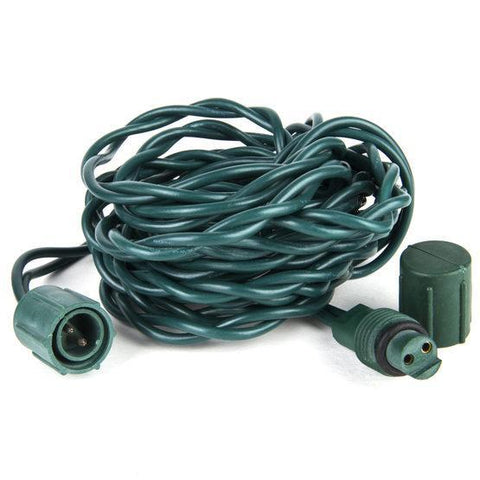 12' Spacer/Extension for Commercial Co-axial LED Strings - Green Wire