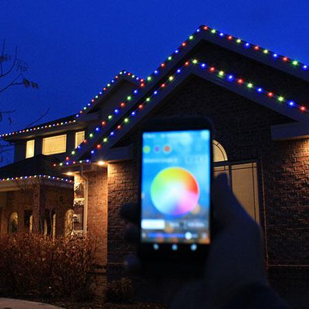 Rgb Led Christmas Lights.150 Kit Everlights Permanent Rgb Led Christmas Lights Eave Lights