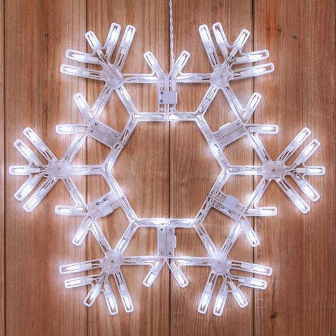 "20"" LED Folding Snowflake - Cool White"