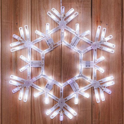 "20"" LED Folding Snowflake - Cool White Twinkle"