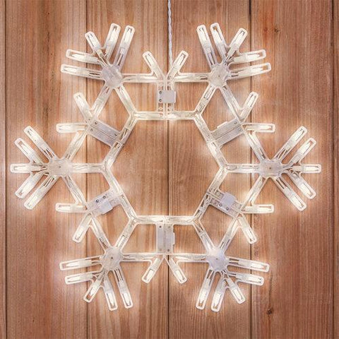 "20"" LED Folding Snowflake - Warm White"
