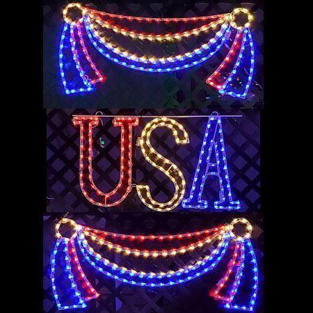 3 Piece USA with Banners