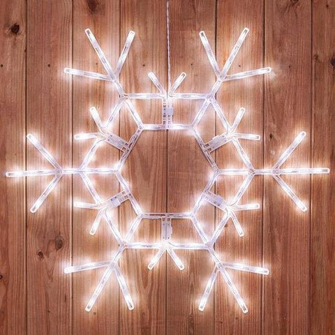 "36"" LED Folding Snowflake -Cool White"