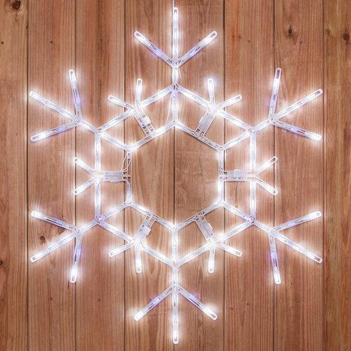 "36"" LED Folding Snowflake - Cool White Twinkle"