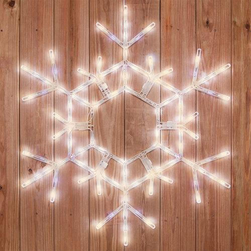 "36"" LED Folding Snowflake - Warm White"