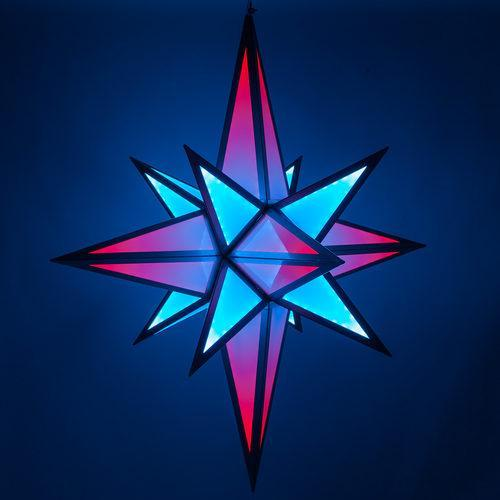 5' RGB LED Ultimate Moravian Star