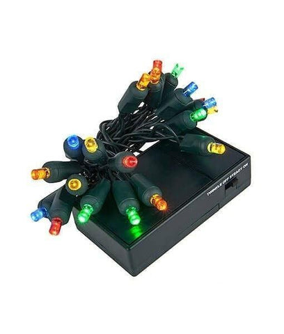 5mm multicolor led battery operated christmas lights 20 bulbs 4 spacing