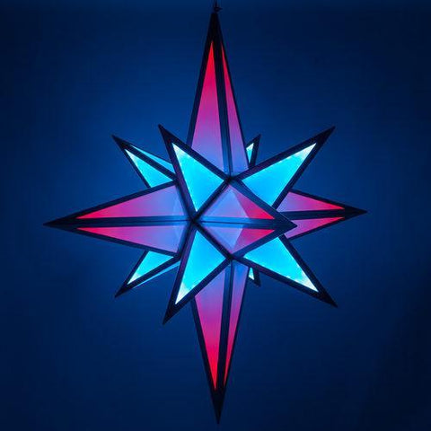 6.5' RGB LED Ultimate Moravian Star