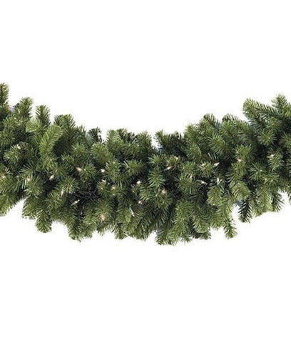 "9' x 14"" Sequoia Garland - Pre-Lit, Incandescent - Clear"