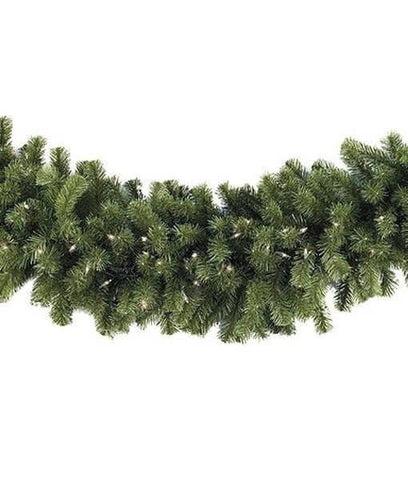 "9' x 18"" Sequoia Garland - Pre-Lit, Incandescent - Clear"