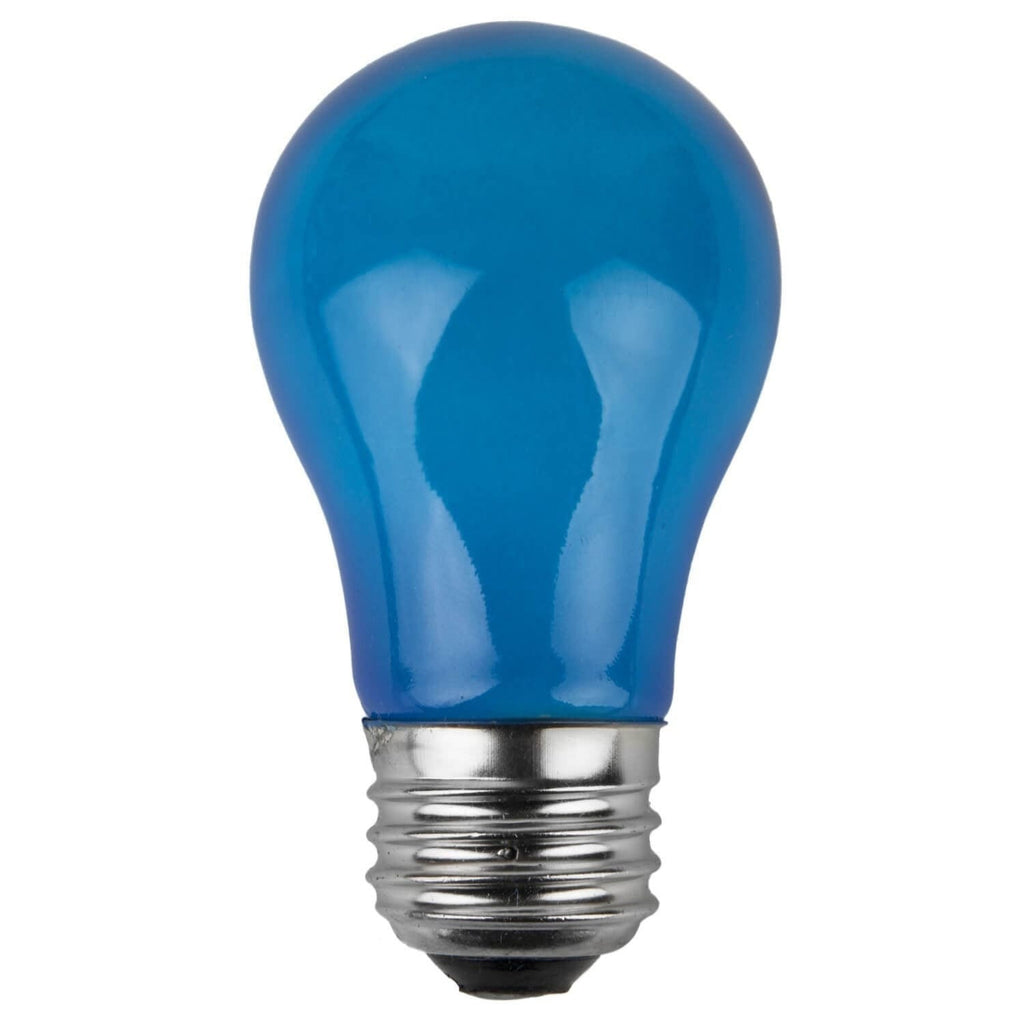 A15 Blue Opaque Bulbs - E26 Medium Base - Box of 25