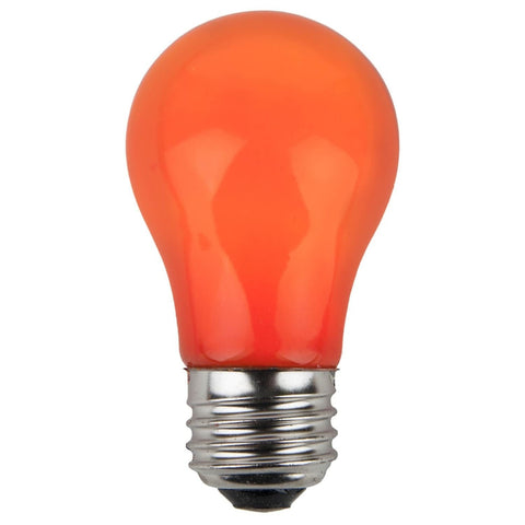 A15 Orange Opaque Bulbs - E26 Medium Base - Box of 25
