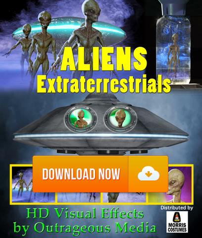 Aliens Extraterrestrials - Projection Effect - Digital Download