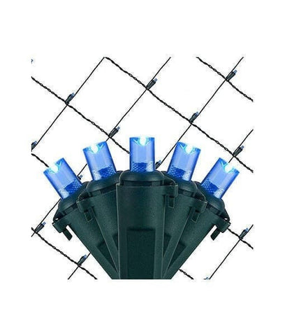 Blue 5mm LED Christmas Net Lights - 100 Bulbs - 4'x6'