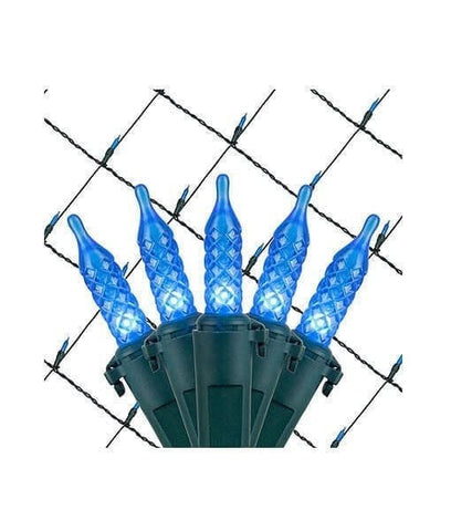 Blue M5 LED Christmas Net Lights - 100 Bulbs - 4'x6'