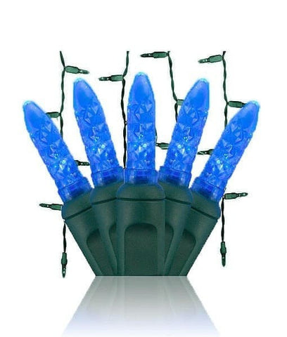 Blue M5 LED Icicle Lights - 70 Bulbs - 7.5' Long